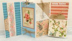 "Hilda's craftcorner: ""Rose"".Tag kaart van Graphic 45 papier."