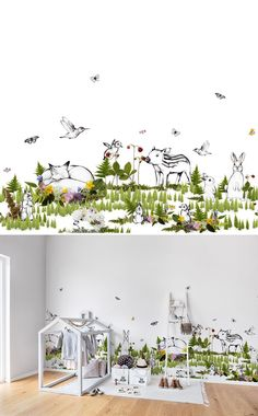 WALLPAPER | WALL MURAL | INTERIOR DESIGN | KID'S ROOM | NURSERY | WALLPAPER FOR KIDS | INSPIRATION | PLAYFUL
