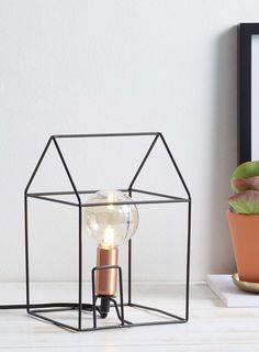 House Outline Table Lamp, Black - BHS