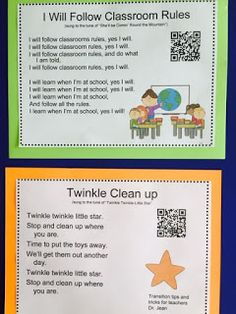 picture - clean up song! Transition Songs For Preschool, Preschool Transitions, Preschool Rules, Preschool Music, Music Activities, Preschool Lessons, Preschool Activities, Children Activities, Therapy Activities