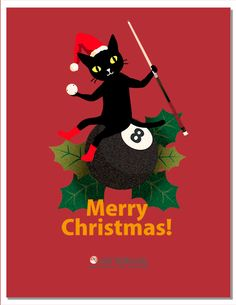 Free Download! a45Billiards Original Christmas Card. http://angle45.jp/en/downloads/greeting-cards/christmas-cards/