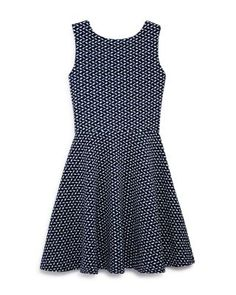 AQUA Girls' Geo Print Cutout Back Knit Dress - Sizes S-XL | Bloomingdale's