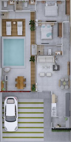 House Layout Plans, Dream House Plans, Modern House Plans, House Layouts, My Dream Home, House Architecture Styles, Architecture Plan, Casas The Sims Freeplay, Architectural House Plans