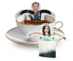 Royal Wedding tea bag holders from Kuati.com