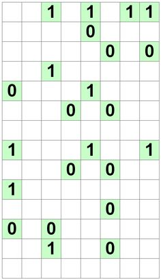 Number Logic Puzzles: 24703 - Binary size 4