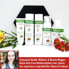 Tasmanian Health, Wellness & Beauty Blogger Kelsie from Wellnessbykels.com   Kelsie Reid from Wellnessbykels.com, shares her experience using the McArthur Natural Products' Complete Skincare Cream, Foaming Facial Cleanser, Complete Skincare Bodywash and our Replenishing Shampoo and Conditioner.  Read her blog post here: http://www.wellnessbykels.com/2016/11/review-mcarthur-natural-products.html   And follow her on Instagram @wellnessbykels