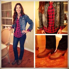 Jeans and plaid!  More details on Instagram:  EmilySarmo