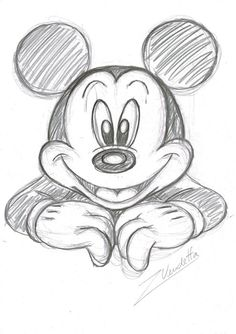 Character Sketches 358951032798743492 - Lovely Mickey – Original Sketch – Z. Vendetta – W. Source by afournes Disney Character Sketches, Disney Drawings Sketches, Easy Disney Drawings, Cool Art Drawings, Cartoon Sketches, Pencil Art Drawings, Easy Drawings, Animal Drawings, Drawing Sketches