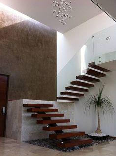 Escalera: Pasillo, hall y escaleras de estilo Moderno por AParquitectos