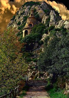 bluepueblo:  Cliff Castle, Catalonia, Spain photo By Jose Luis Mieza Photography