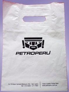 Bolsas con Asa reforzada personalizada, impresa a 1 color, por ciento o Millar a domicilio,delivery, lima y provincias de todo el Peru