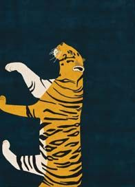 Tiger - Bright rugs - Contemporary Rugs - Shop Collection The Rug Company Tiger Rug, Pet Tiger, Animal Rug, Posca Art, Childrens Rugs, Blue Tigers, 4x6 Rugs, Rug Company, Custom Rugs