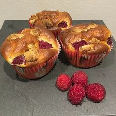 Muffins framboises/chocolat blanc 2 SP/muffin pour 10 muffins