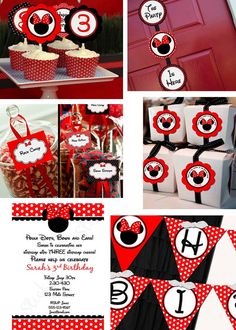 complete minnie mouse birthday red party line