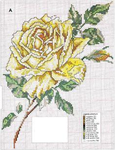schema+punto+croce+rosa+gialla.jpg (900×1172)