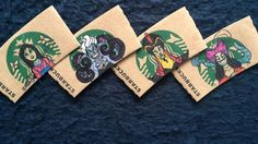 These Disney character Starbucks sleeves are so cute <3