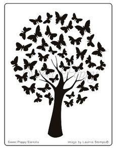 Sweet Poppy Stencil: Butterfly Tree: