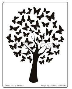 árbol de mariposas