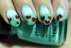 World of Love Valentines Day Nail Designs 300x202 Valentines Day Nail Art Designs