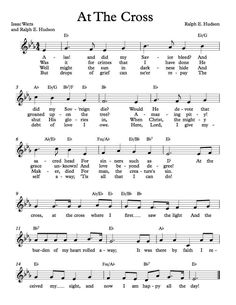 Free Sheet Music - Free Lead Sheet - At The Cross by Ralph E. Hudson and Isaac Watts