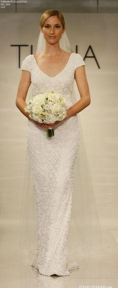 THEIA White for Fall 2014 - Wedding Dresses - Lila / http://styleunveiled.com/wedding-blog/tag/theia-couture