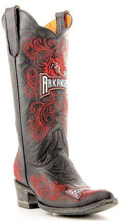 Womens Black Gameday Boots Arkansas Razorbacks