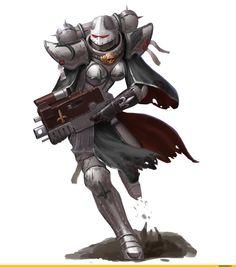 Adepta Sororitas (sisters of battle, сестры битвы) :: Ecclesiarchy :: Imperium :: warhammer 40000 :: фэндомы / красивые картинки и арты, гифки, прикольные комиксы, интересные статьи по теме. Warhammer Art, Warhammer 40000, Warhammer Fantasy, Character Art, Space Fantasy, Fantasy Artwork, Marvel, Space Wolves, Medieval