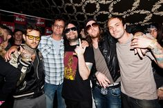 My shot of The Used with Kevin Lyman from the Warped Tour Launch on Rolling Stone