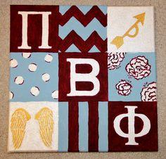 Change to tri delta Sorority Canvas, Sorority Life, Phi Sigma Sigma, Sorority Big Little, Big Little Gifts, Sorority Sugar, Pinterest Crafts, Tri Delta, Kappa Alpha Theta