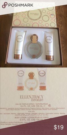 New Ellen Tracy BRONZE Perfume,Lotion,Shower Gel New Ellen Tracy BRONZE Eau de Parfum 3.4 fl. Oz.100ml., Body Lotion 3.4fl.oz. 100ml.,Shower Gel 3.4fl.oz. 100ml. Ellen Tracy Makeup