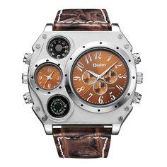 Oulm Unique Multiple Big Face Casual Wristwatch
