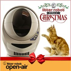 The Litter-Robot is giving away 30 Open-Air units this month. Whaaaaat?! #giveaway #gift #cats