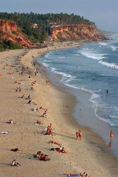 Varkala Beach, Kerala. I spent two weeks here in the winter of 2005. #mnwinterwon'tstop