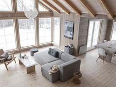 Un chalet ouvert sur la montagne en Norvège   PLANETE DECO a homes world