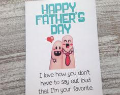 I love these cute finger people Father's Day cards from OhMyWordCards on Etsy.