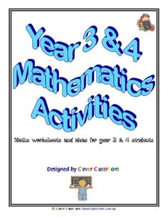 From Clever Classroom on TpT. Grade 3 and 4 Mathematics eBook - PDF fileThis 64 page Ebook is a must for the busy teacher. One of our top selling items on eBay!With ...