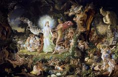 Oberon and Titania- Joseph Noel Paton