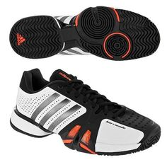 842d1a94bb Adidas Barricade 7.0 Men s Tennis Shoes (White Iron Black)