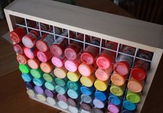 Craft Paint Storage Rack Holds 81 2 oz Bottles of Paint Acrylic Paint Storage, Craft Paint Storage, Paint Organization, Organization Ideas, Pvc Paint, Studio Organization, Paper Storage, Art Supplies Storage, Storage Ideas