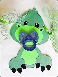 Dinosaur with Pacifier Baby Shower Banner by JustForYouBanners