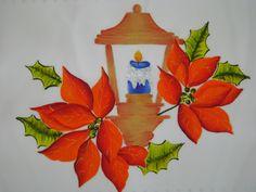 individuales navideños pintados en tela - Buscar con Google