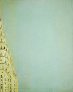 New York City Photograph - Chrysler Building in New York City, Travel photograph, Pastel, Spring, Art Deco Architecture - Top of the City