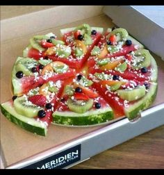 Fruit Pizza from Le Meridien Istanbul Etiler