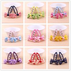 0.68$  Know more - 2pcslot Newly Design Grosgrain Small Bow Hairpins Baby Girls Hair Accessories Children headdress Kids Hair Clips Mini Headwear   #shopstyle
