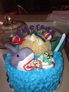 Shark cake for Emerson
