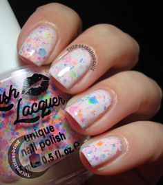 Cute! It's like a pink version of Oh Splat! Lush Lacquer Haywire!