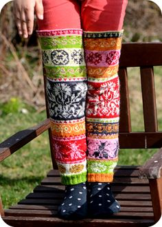 Double Knitting, Lace Knitting, Knitting Socks, Slipper Socks, Slippers, Fair Isles, Fair Isle Pattern, Wool Socks, Happy Socks