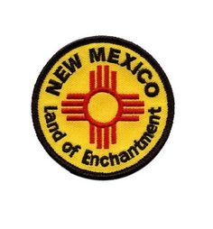 New Mexico Patch - Land of Enchantment Collectible Iron-On High Quality Stitching New Mexico Albuquerque, Horse Carriage Rides, Duke City, New Mexico Homes, Holidays To Mexico, Historic Route 66, Pin And Patches, Jacket Patches, Visit Santa