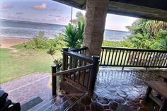 Anini Beach Vacation Rental - VRBO 389614 - 4 BR North Shore House in HI, Beachfront. Anini. 20 Ft to the Sand. 4BR Sleeps 14
