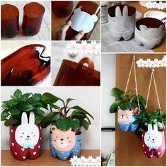 DIY Plastic Bottle Plant Pot